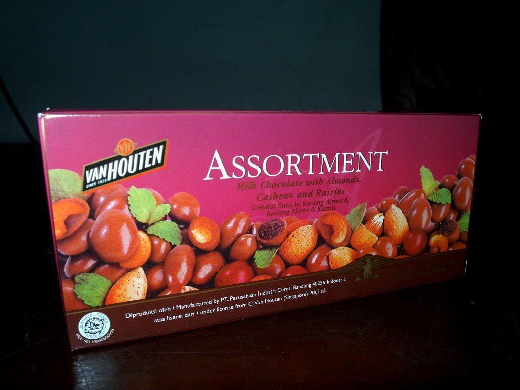 Van Houten Assortment Chocolate - kotak kemasan